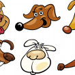 Cartoon funny dogs heads set — Stock Vector #12311272