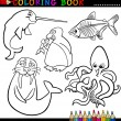 Animals for Coloring Book or Page — Stock Vector #12580896