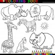 Animals for Coloring Book or Page — Stock Vector #12580955