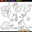 Animals for Coloring Book or Page — Stock Vector #12580980