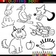 Stock Vector: animals for coloring book or page