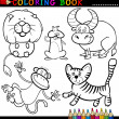 Постер, плакат: Animals for Coloring Book or Page