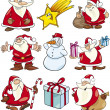 Cartoon Set of Christmas Themes — Stock Vector #12600444