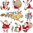 Cartoon Set of Christmas Themes — Stock Vector #12600448