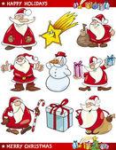 Cartoon-set weihnachtsthemen — Stockvektor