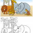 Постер, плакат: Wild Safari Animals for Coloring