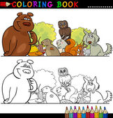 Wild Animals for Coloring — 图库矢量图片