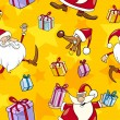 Royalty-Free Stock Vector Image: Christmas Cartoon Seamless Pattern