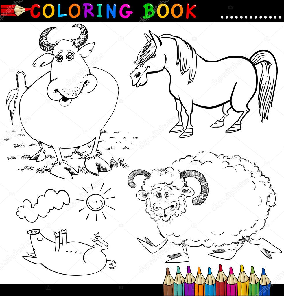 pecuária Colouring Pages