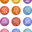 Stock Vector: Zodiac horoscope signs icons