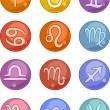 Zodiac horoscope signs icons — Stock Vector