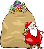 Santa claus cartoon christmas illustration — Stock Vector