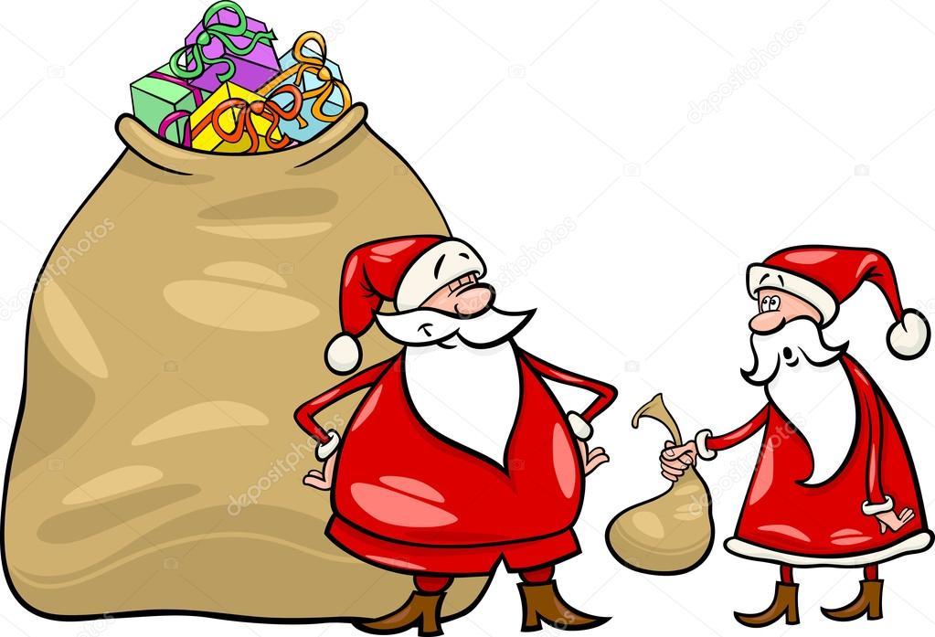 Santa claus cartoon christmas illustration – Stock Illustration
