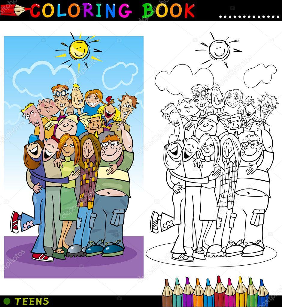 Imagenes De Personas Felices Para Colorear
