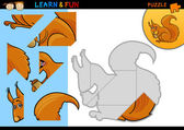 Cartoon squirrel puzzle game — Stock Vector