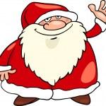 Santa claus christmas cartoon illustration — Stock Vector #14944103