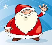 Ilustración de dibujos animados de navidad de santa claus — Vector de stock