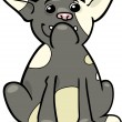 French bulldog cartoon illustration — Imagen vectorial