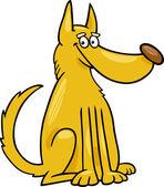 Mongrel dog cartoon illustration — Stock Vector
