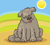 Newfoundland dog cartoon illustration — Stock Vector