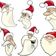 Royalty-Free Stock Vector Image: Happy santa claus cartoon faces icons set