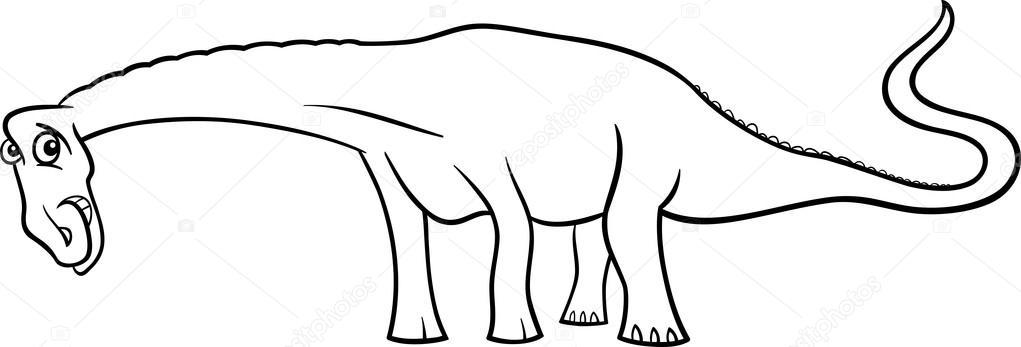 Dinossauro Diplodocus De Desenhos Animados Para Colorir