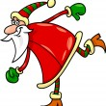 Santa claus christmas cartoon illustration — Stock Vector