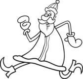 Santa claus cartoon for coloring book — Stock Vector