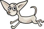 Running chihuahua cartoon illustration — Stock Vector
