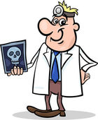 Cartoon doctor illustration with xray — 图库矢量图片
