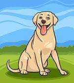 Labrador retriever hond cartoon afbeelding — Stockvector