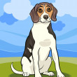 Beagle dog cartoon illustration - Stock Vector