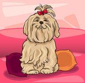 Ilustracja kreskówka pies-Maltański — Wektor stockowy