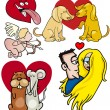 Royalty-Free Stock Vector Image: Valentine cartoon illustration love set