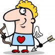 Valentine man in cupid costume cartoon — Stock Vector #19059447