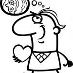 Man with his valentine cartoon illustration — Stock Vector #19115339