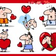 Valentinstag Themen cartoon illustration — Stockvektor