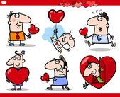 Valentines day themes cartoon illustration — Stock vektor