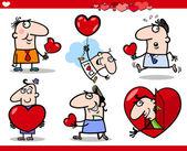 Dia dos namorados temas cartum ilustração — Vetorial Stock