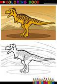 Tarbosaurus dinosaur for coloring book — Stock Vector
