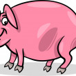 Pig farm animal cartoon illustration — Wektor stockowy #19598209