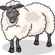 Sheep farm animal cartoon illustration — Vector de stock #19721423
