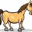 Vector de stock : Horse farm animal cartoon illustration