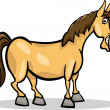 ストックベクタ: Horse farm animal cartoon illustration