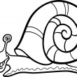 Snail mollusk cartoon for coloring book — Stock Vector #20640659