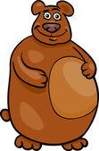 Niedźwiedź dziki ilustracja kreskówka — Wektor stockowy