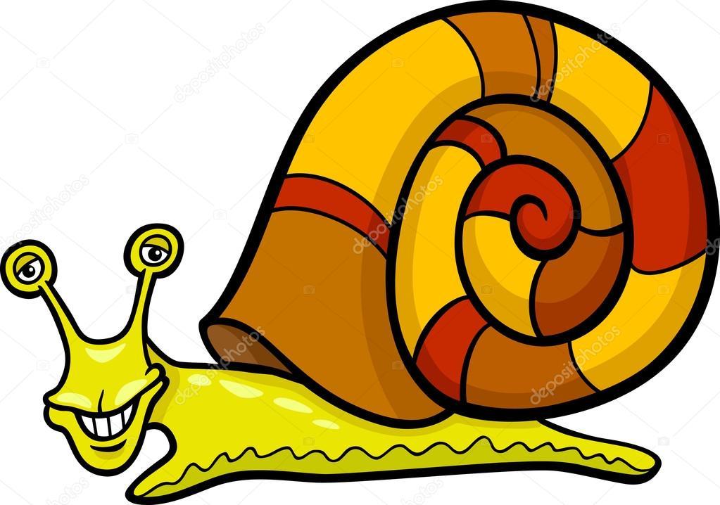 Snail Mollusk Cartoon Illustration