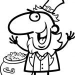 Happy Leprechaun cartoon for coloring book — Stock Vector #21365221