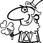 Leprechaun with clover cartoon for coloring — Stock Vector #21366207