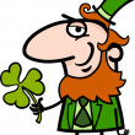 Leprechaun with clover cartoon illustration — Stock Vector #21366279
